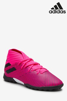 adidas Hardwired Pink Nemeziz Turf Junior & Youth Football Boots