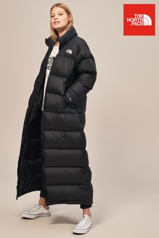 The North Face® Black Nuptse Duster Coat