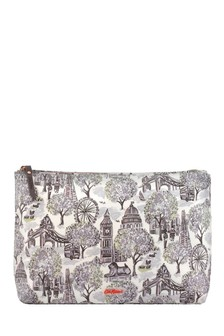 Cath Kidston® London Toile Matt Zip Wash Bag