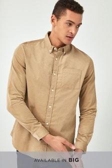 Chemise à manches longues en velours côtelé