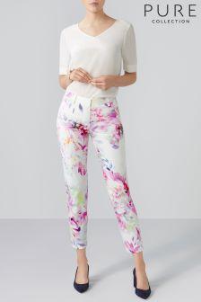 Белые брюки капри Pure Collection