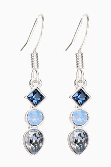 Crystal Drop Earrings With Swarovski® Crystals