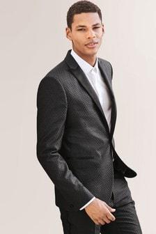 Jacquard Skinny Fit Tuxedo Suit