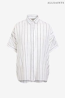 AllSaints White Stripe Oversized Blouse