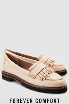 Forever Comfort Fringe Leather Loafers