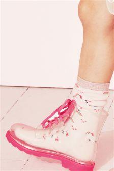 Unicorn Welly Socks Two Pack (Older)