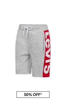 Levis Kidswear Boys Grey Cotton Shorts