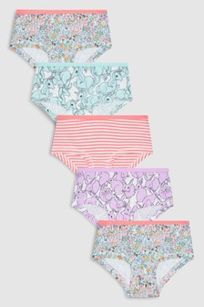 Floral/Character Hipsters Five Pack (3-16yrs)
