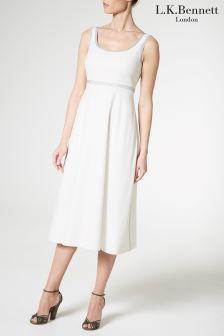 L.K.Bennett White Aurelie Dress