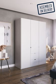 Monroe 1.5M Glass Hinged 3 Door Wardrobe
