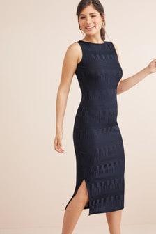 Textured Longline Dress