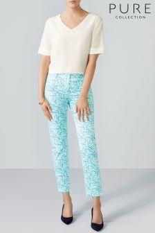 Pure Collection Blue Capri Trouser