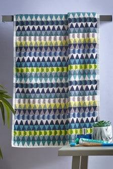 Geo Stripe Towels