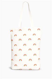 Rainbow Print Shopper