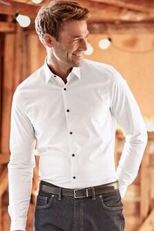 Chemise stretch à manches longues