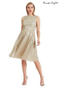 Phase Eight Imani Sequin Embroidered Flower Dress