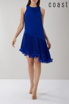Coast Blue Peyton Wire Pleat Hem Dress