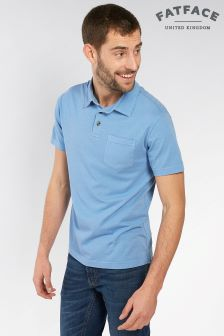 FatFace Chambray York Organic Lightweight Polo