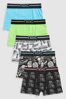 Print Trunks Five Pack (2-16yrs)