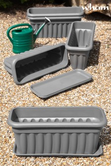Set of 5 Vista 60cm Tray And Garden Troughs by Wham