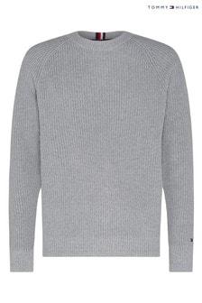 Tommy Hilfiger Grey Classic Rib Sweater