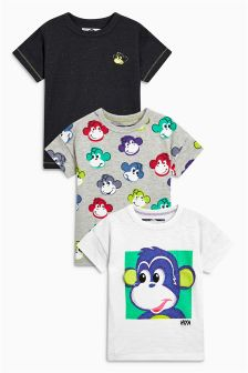 Monkey T-Shirts Three Pack (3mths-5yrs)