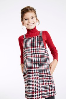 Check Brushed Pinafore (3-16yrs)