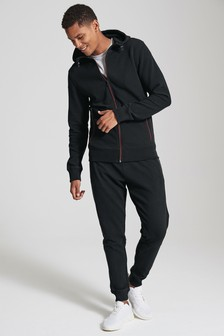 Ottoman Zip Through Hoody