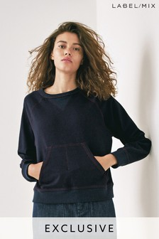 Mix/LF Markey Indigo Boxy Sweatshirt