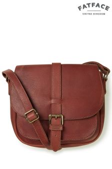 Fatface Tan Sammy Saddle Cross Body