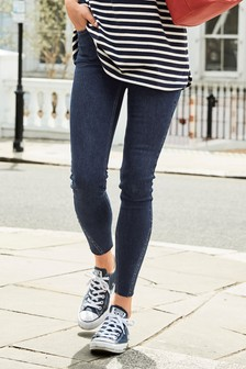 Stud Hem Detail Skinny Jeans