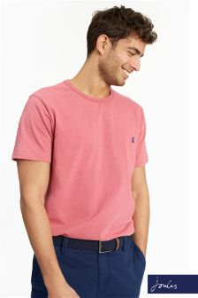 Joules Red Laundered Short Sleeve T-Shirt