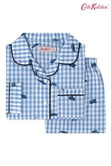 Cath Kidston® Kids White Gingham Garage Station Woven Pyjamas