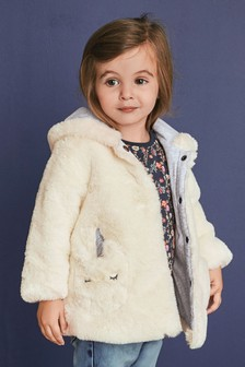 Unicorn Faux Fur Jacket (3mths-6yrs)