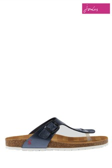 Joules Blue Sundale Toe Post Sandal