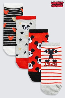 Mickey Mouse™ Trainer Socks Four Pack
