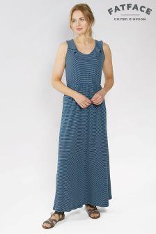FatFace Navy Debbie Stripe Maxi Dress