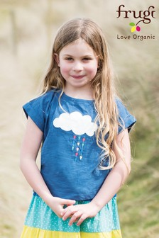 Frugi Organic Blue Cloud Slub T-Shirt