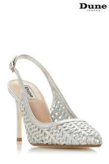Dune London Silver Leather Shoe