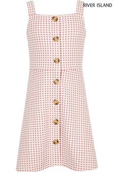 River Island Rib Textured Pinny Dress