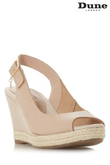 Dune Klicks Peep Toe Wedge