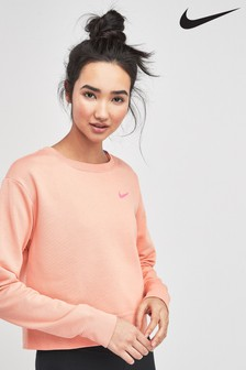 Nike Pink Training Sweat Top