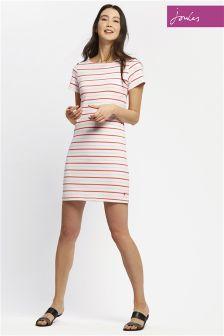Joules Pink Stripe Riviera Dress