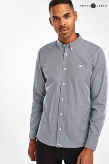 Pretty Green Navy Hendry Gingham Check Shirt