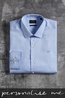 Personalised Blue Dobby Shirt