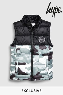 Hype. Black/White Camo Gilet