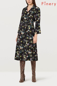 Finery London Daniella Dark Ground Floral Dress