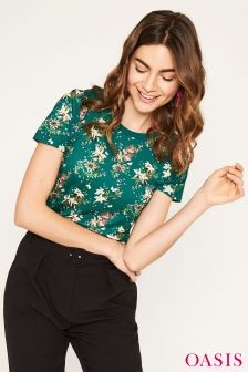 Oasis Green Mini Kelsey Viscose Tee
