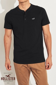 Hollister Black Henley T-Shirt