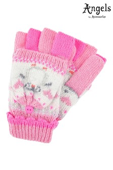 Angels by Accessorize Pink Peggy Penguin Capped Mitten